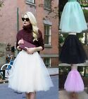 Women Tulle Ballet Skirt Candy Color Circle A Line Flare Gauze Tutu Skirt S-5XL