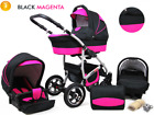 Baby Pram Pushchair Stroller Car Seat Carrycot Travel System Buggy ISOFIX BASE <br/> FORWARD&amp;REAR FACING MODE,Rain Cover,Mosquito Net &amp; MORE