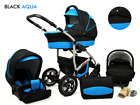 Baby Pram Newborn Car Seat 3in1 Buggy Pushchair Stroller Carrycot Travel System  <br/> FREE DELIVERY &amp; RETURNS, FREEBIES