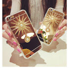 HOT Shockproof Fashion Mirror Crystal Sunflower Case Cover for Various Phones