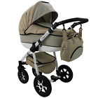 Baby Pram Buggy Stroller 3in1 Pushchair Car Seat Carrycot Travel System LINEN <br/> FORWARD&amp;REAR FACING MODE,Rain Cover,Mosquito Net &amp; MORE