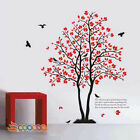 """Wall Decor Decal Sticker Mural Removable vinyl large loving bird twin tree 60""""H"""