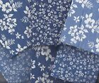 PATCHWORK/CRAFT 100% COTTON 6 FAT QUARTER BUNDLE - DENIM FLORALS