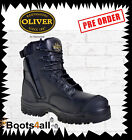 NEW Oliver Safety Work Boots Black ZIP Side Lace Up  METAL FREE 45645Z