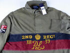 Polo Ralph Lauren LS Cotton Rugby Shirt $155 NWT 2nd Regiment Military Crown L