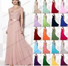 Long Lace Chiffon Evening Formal Party Ball Gown Prom Bridesmaid Dress Size 6~22