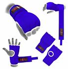 Hand Wrap Blue Padded inner boxing glove MMA UFC Adult / kids gel Quick wraps
