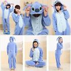 Unisex Adult Pajamas Kigurumi Cosplay Costume Animal Onesie Sleepwear Pink/blue