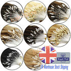 Grade 7A Loop Micro Ring Beads Tipped 100%Remy Human Hair Extensions UK Delivery