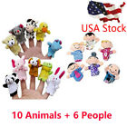 1PC/ 16PC Finger Puppets Animals People Family Members Educational Kids Toy
