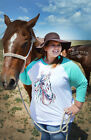 New Crazy Train The Longshot Horse Baseball Shirt Burgandy Sizes Small to 3XL