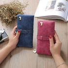 Women Retro Bifold Grind Leather Purse Fashion Ladies Wallet Card Phone Holder