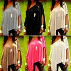 New Fashion Womens Off Shoulder Blouse Leisure Tops Shirt T-Shirt Plus Size 8-20