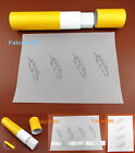 2kind Leathercraft Carve Draw Feather Pattern Transparent Tracing Paper Template