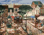 Square Bar In A Town Beautiful Printed Needlepoint Canvas 027