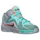 NIKE LEBRON XII 12 PRE SCHOOL 685184-302 TURQUOISE SILVER BLACK 11-3 Kids