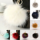 Fluffy Large 16cm Faux Fox Fur PomPom Ball Car Handbag Keychain Key Ring Sanwood