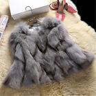 2017 Women Coat Real Whole Fox Fur Fluffy Jacket Coat Warm Garment Outwear Warm