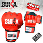 Leather Gloves MMA UFC Sparring Grappling Train Fight Ultimate Mitts