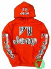 Jeep Snow Camo Orange Pullover Hoodie Wrangler BUY ANY 2 HOODIES GET A FREE TEE!
