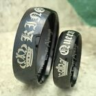 King and Queen Rings  His & Hers Tungsten Rings  Anniversary Rings  Promise Ring