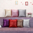 Solid Color Glitter Sequins Throw Pillow Case Home Car Decor Cushion Cover CL