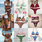 2017 Women Triangle Padded Bra Push-up Bikini Set Swimwear Swimsuit Bathing Suit