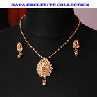 Kapa Antique Gold Plated Necklace with Earrings Indian Bollywood style