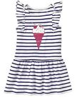 NWT GYMBOREE Girl 12-18 3T Navy Stripe Ice Cream Dress MIX 'N MATCH