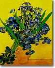 HUGE Van Gogh Vase with Irises Stretched Canvas Giclee Re...