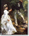 HUGE Renoir The Promenade Stretched Canvas Giclee Repro Art Print ALL SIZES