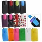 Stylish PU Leather Pouch Case Sleeve has Pull Tab Fits Highscreen Smartphones