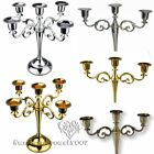 Hot 3Arms 5Arms Candle Holders Metal Candelabra 27cm Tall For Wedding/Home Décor