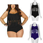Plus Size Women Push Up Tassel Fringe High Waist Swimsuit Bikini Swimwear New