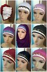 LADIES HIJAB FANCY BONNET CAPS CHEMO HAIR LOSS HAT UNDERSCARF