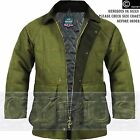 Derby Tweed Jacket Coat Vintage Herringbone Green Hunting Shooting Breathable