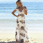 Floral print ruffles long dress Women strap v neck split beach summer vestidos
