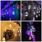 220V 120 LED Glass Balls Fairy Lights String Curtain Lamp Bulb Home Garden Decor