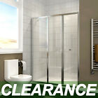 Bifold Shower Door Enclosure Safety Glass Screen Cubicle with 400mm Inline Panel