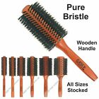 Round Pure Boar Bristle Hair Brush Classic Style Professional ALL SIZES STOCKED