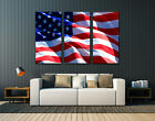 """American Flag, Huge canvas print, wall art decor , up to 60""""x40"""","""