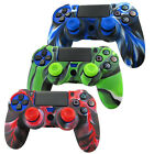 Colorful Silicone Cover Case Skin+2Joystick Cap for PlayStation 4 PS4 Controller