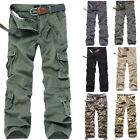 Lot New Men's Cotton Military Combat Camouflage Camo Army Cargo Pants Trousers