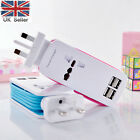 5ft Universal 4 Port Multi USB Wall Charger UK Plug Travel Power Adapter