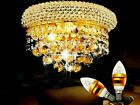 Modern K9 Crystal Wall Light with Great Droplets Crystal Balls Gold and Chrome