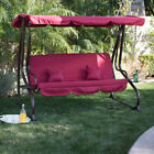 3 Person Outdoor Swing W/Canopy Seat Patio Hammock Furniture Bench Yard Loveseat