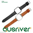 Genuine Leather Replacement Wristband Strip Bracelet For Fitbit Blaze Brown