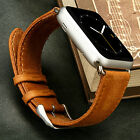 Vintage Genuine Leather Strap Wrist Band Handmade For Apple iWatch With Adapter
