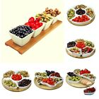 Dinner Party Hostess Serving Chip and Dip Trays Dishes 6 Options 5 w/ Lazy Susan