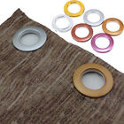 DIY Plastic Eyelet Ring Sewing Tape Curtain Blinds Drapery Low Noise Round Decor